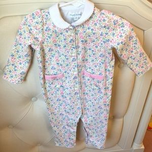 Ralph Lauren Baby floral one piece with collar